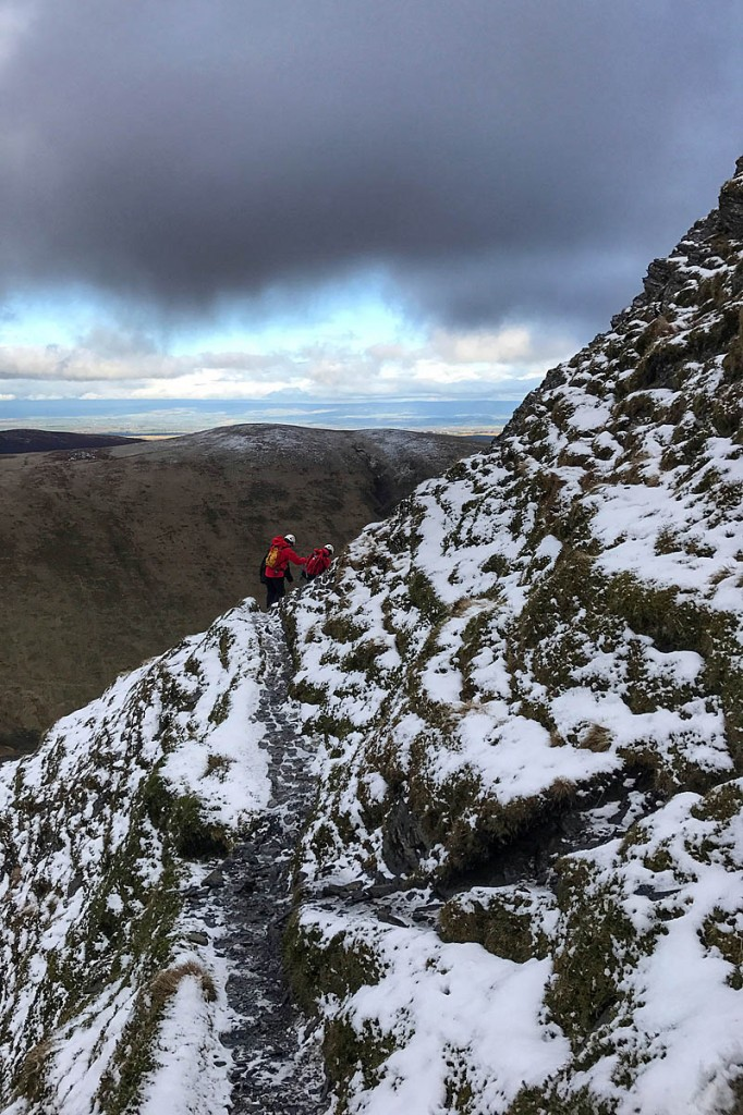 The walkers were led to safety from the mountain. Photo: Keswick MRT