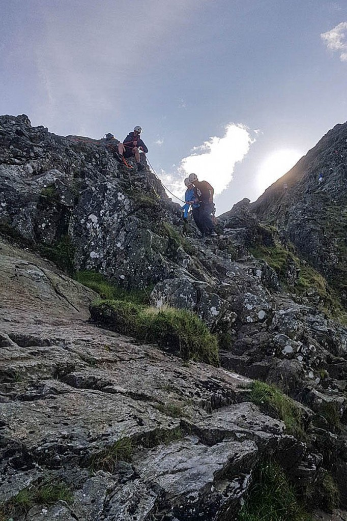 The walker was rescued after getting stuck on Sharp Edge. Photo: Keswick MRT