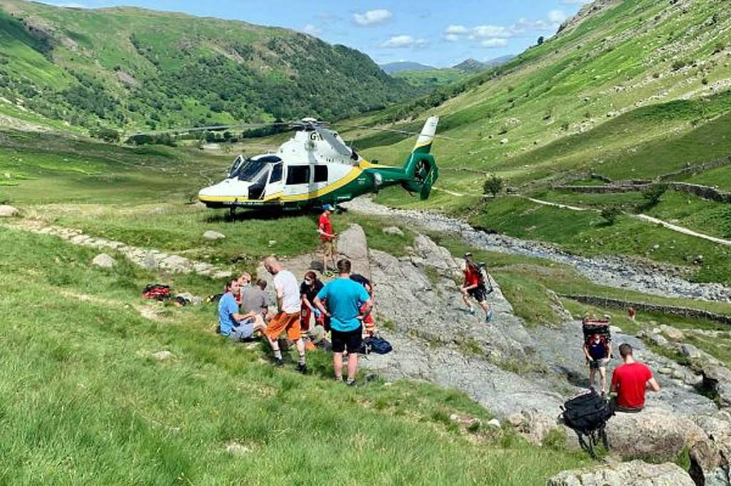 The rescue scene near Stockley Bridge. Photo: Keswick MRT