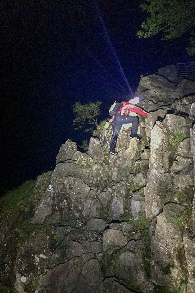 A rescue team member during the search. Photo: Keswick MRT