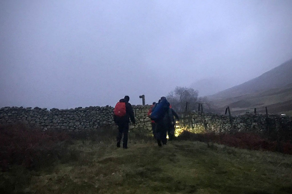 The walkers called for help as the light began to fade. Photo: Keswick MRT