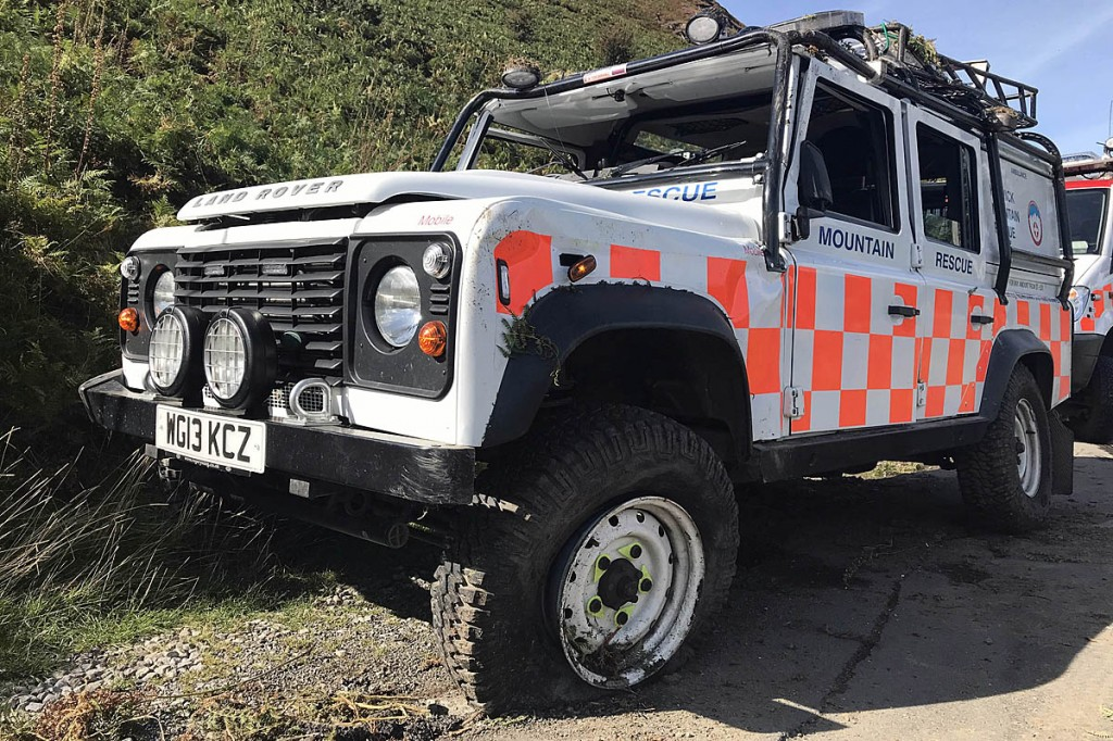 The Land Rover's roll cage protected the team members from worse injuries. Photo: Keswick MRT