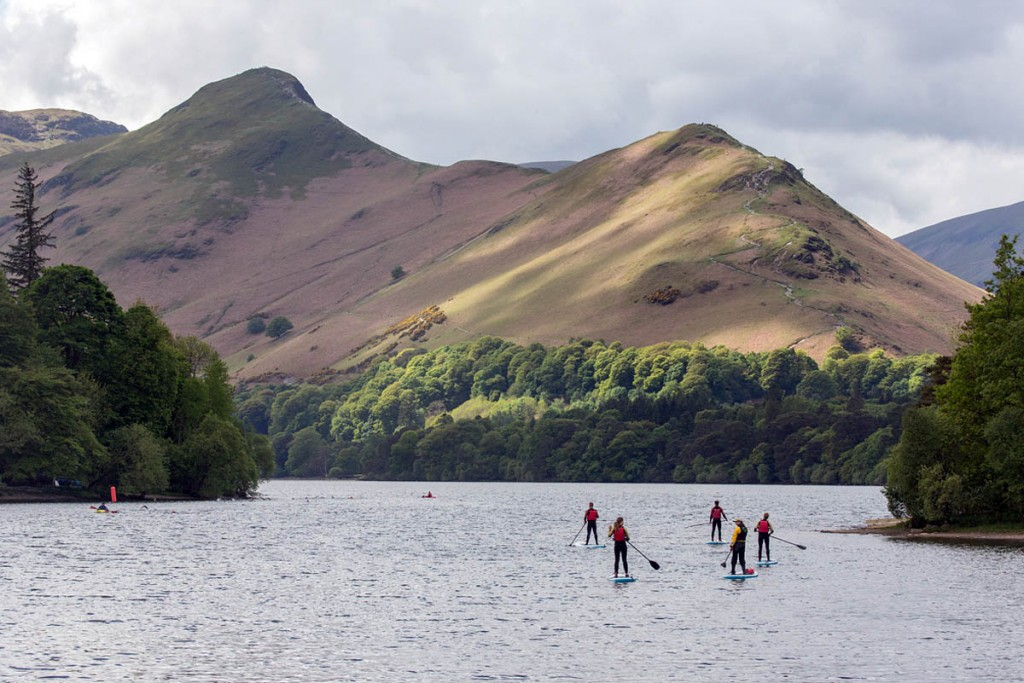 Stand-up paddle boarding in action during this year's festival. Photo: Stuart Holmes