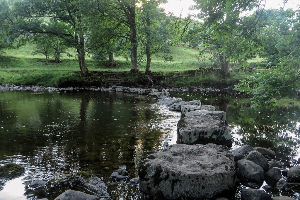 The stepping stones over the River Wharfe south of Kettlewell. Photo: Graham Robson CC-BY-SA-2.0