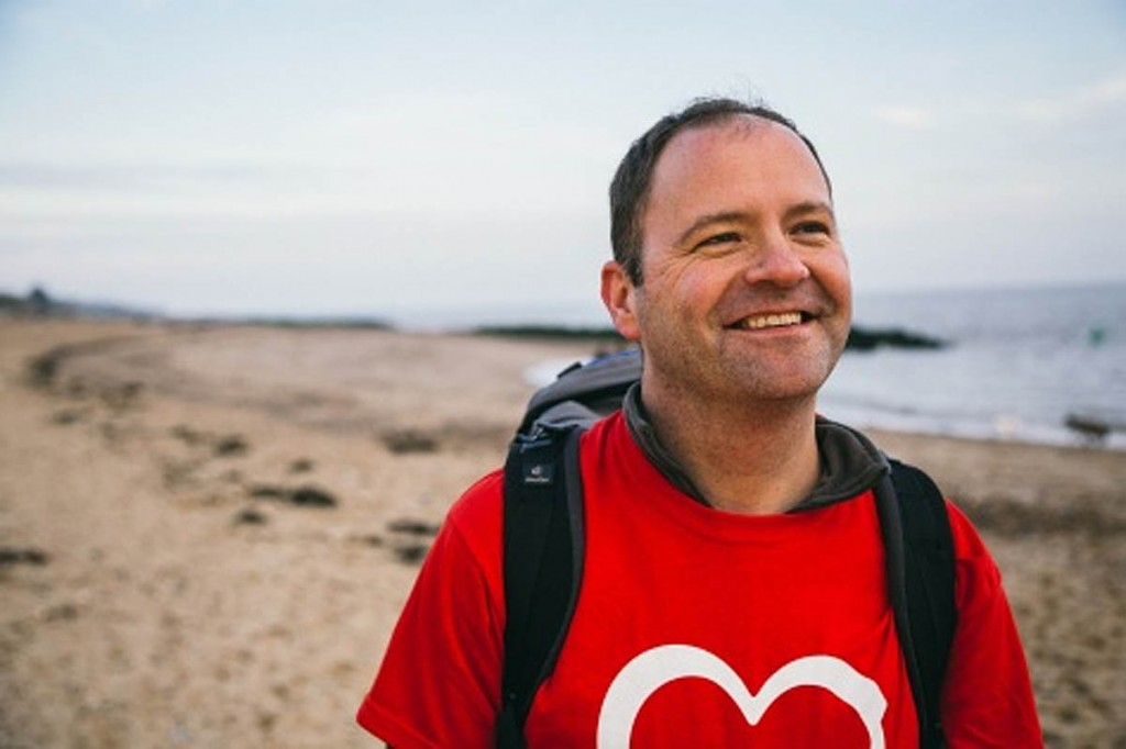 Kirean Sandwell, who will walk the British coast to raise funds for the heart charity
