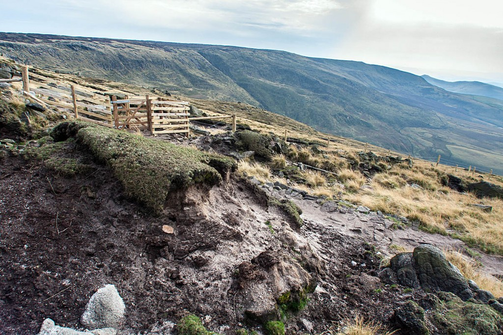 The walkers got lost below the western edge of Kinder Scout. Photo: Bob Smith/grough