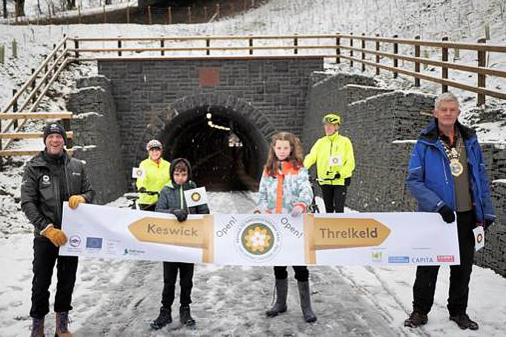 The opening ceremony at the Bobbin Mill tunnel mouth. Photo: LDNPA