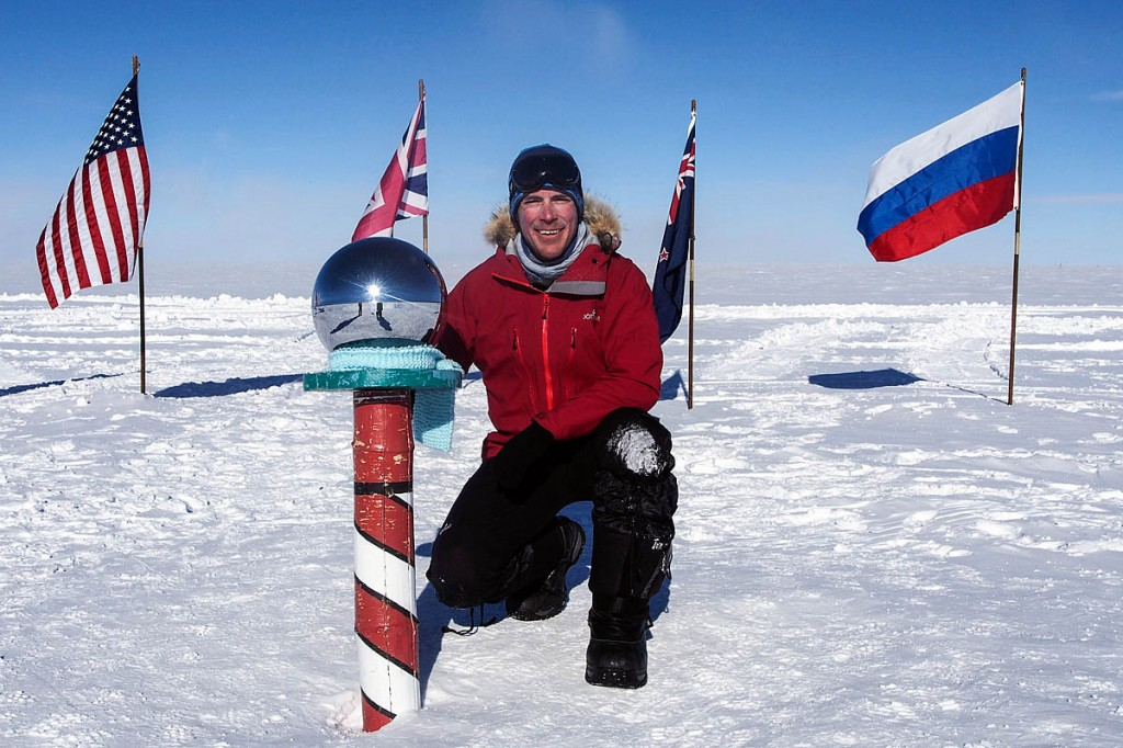 New Lake District felltop assessor Zac Poulton pictured at the South Pole