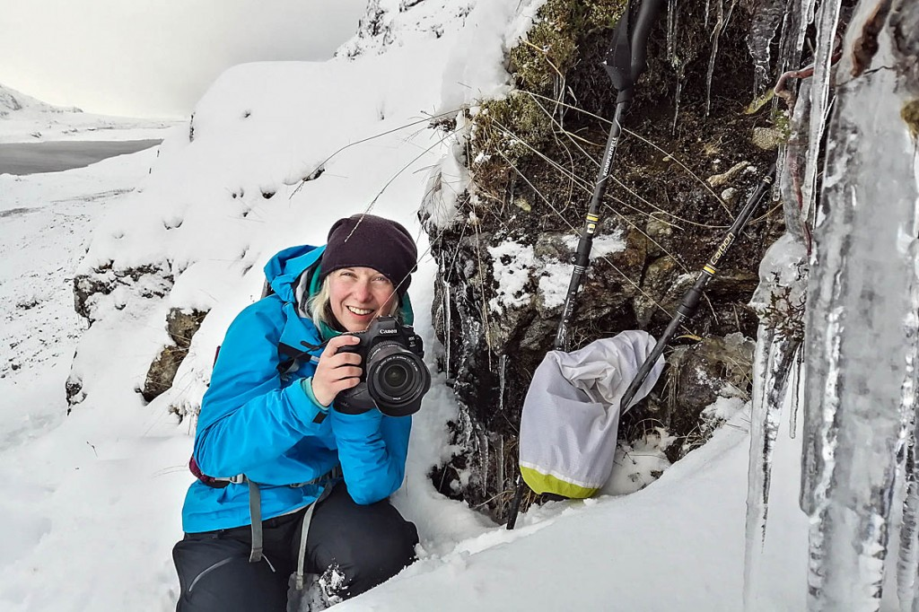Phoebe Smith on an Antarctica training trip in Fisherfield, Scotland, the official Middle if Nowhere, UK, the furthest point to any road
