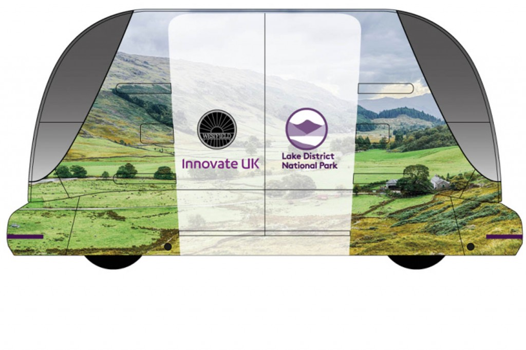 A mock-up of how a Lake District pod, in its national park 'wrap', might look