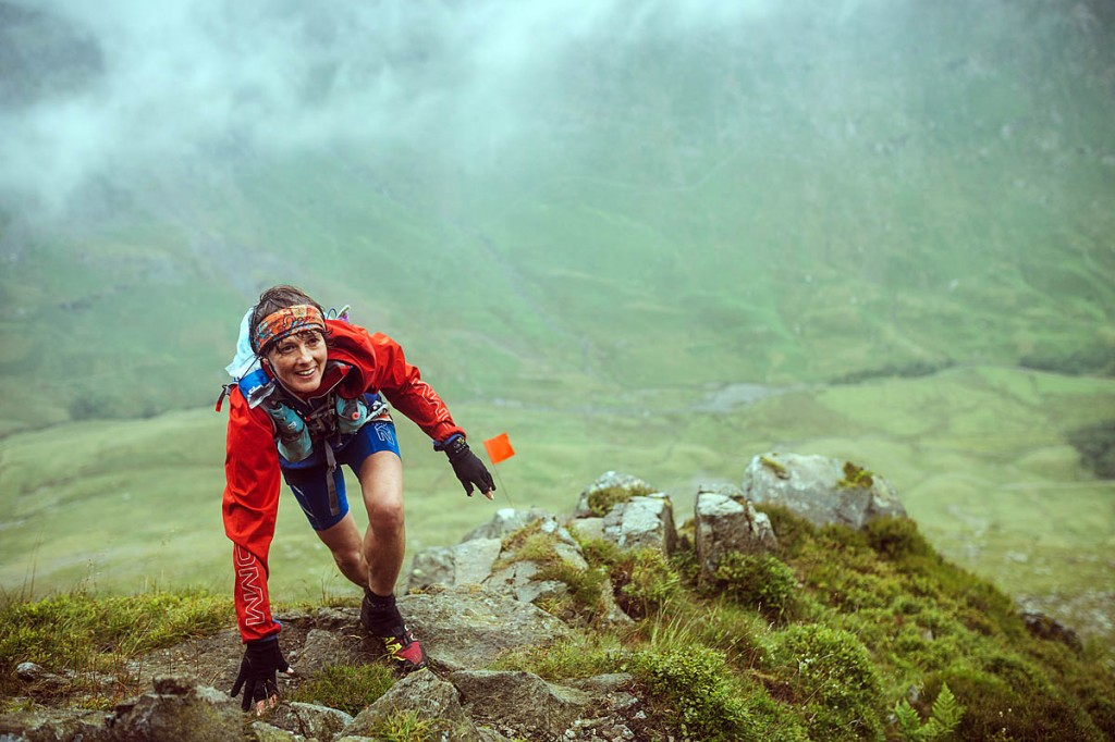 A runner ascends Pinnacle Ridge on St Sunday Crag. Photo: Guillem Casanova / guillemcasanova.com