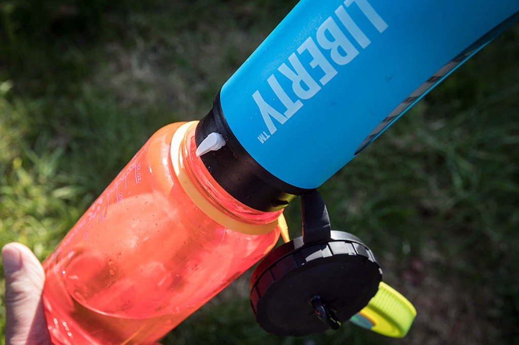 The Liberty can be screwed into the neck of a Nalgene bottle. Photo: Bob Smith/grough