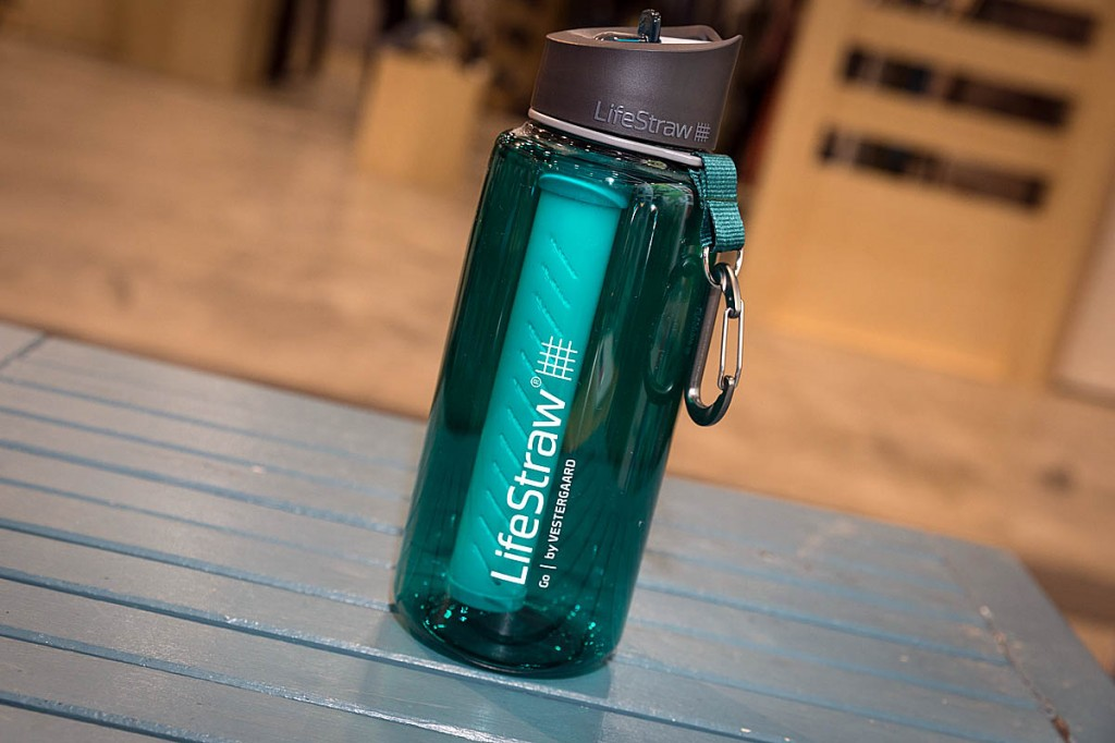 LifeStraw's Go Bottle. Photo: Bob Smith/grough