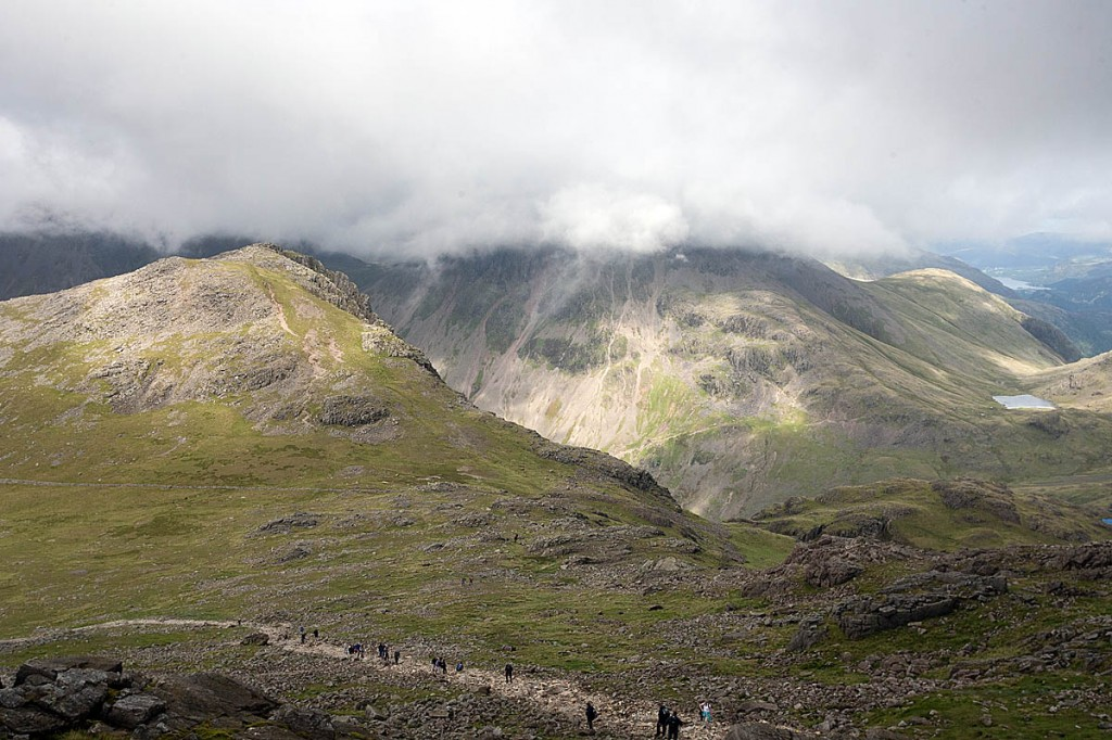 The walkers were located near Lingmell Col. Photo: Bob Smith/grough