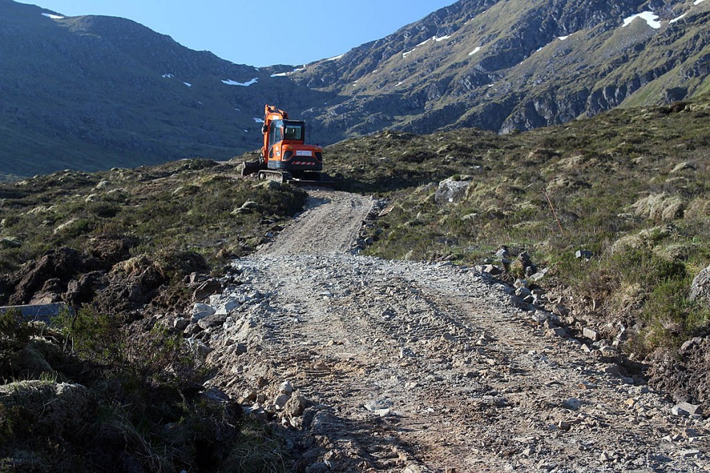 Construction of a hilltrack near Achnashellach. Photo: Tim Hall