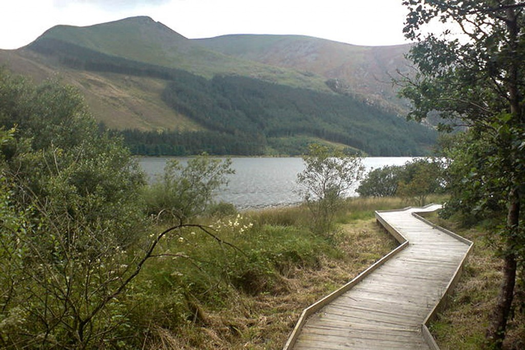 The boardwalk near Llyn Cwellyn has been repaired. Photo: Kenneth Yarham CC-BY-SA-2.0