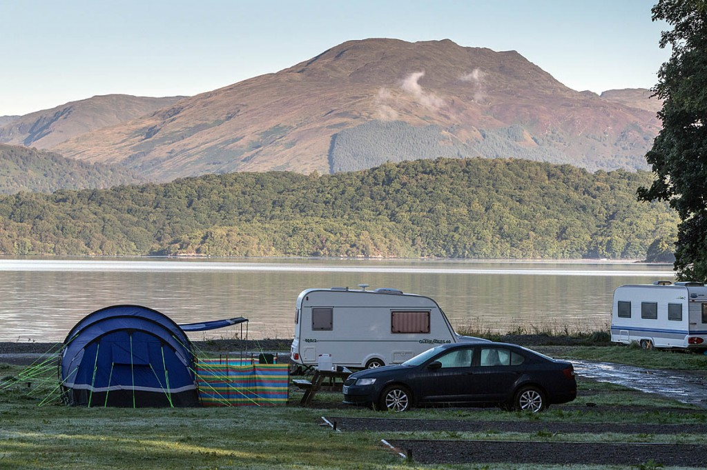 Visitors are being encouraged to use sites such as Cashel, on the east shore of Loch Lomond. Photo: Bob Smith/grough