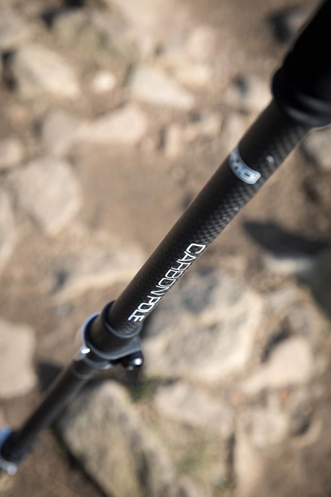 Lomo's carbon fibre poles won't break the bank. Photo: Bob Smith/grough