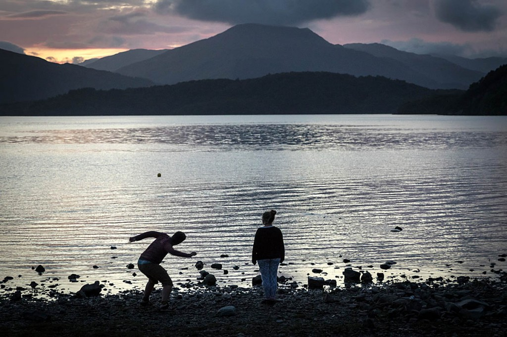 A couple on the shore of Loch Lomond. Photo: Bob Smith/grough