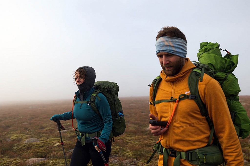 Jenny Graham and Calum Maclean are believed to be the first walkers to complete the route. Photo: Johny Cook