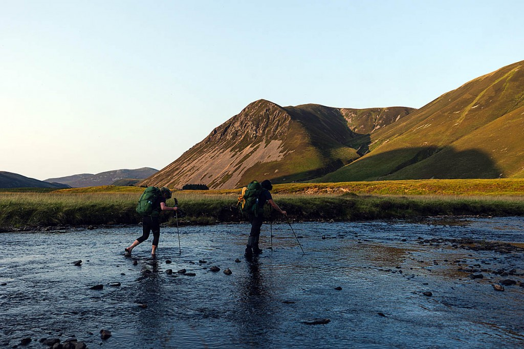The straight-line route meant crossing rivers. Photo: Johny Cook