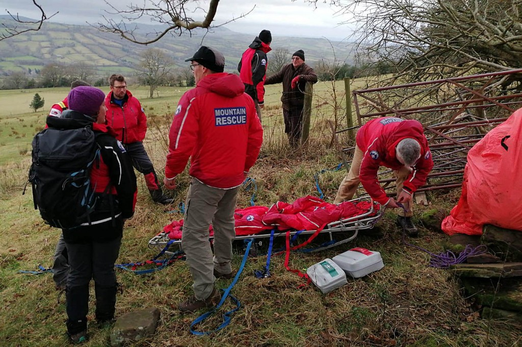 Team members at the scene of one of the rescues. Photo: Longtown MRT