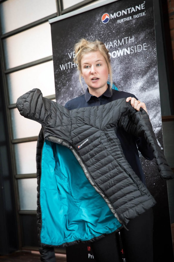 Lottie Watkinson demonstrates the qualities of a Phoenix Jacket. Photo: Bob Smith/grough