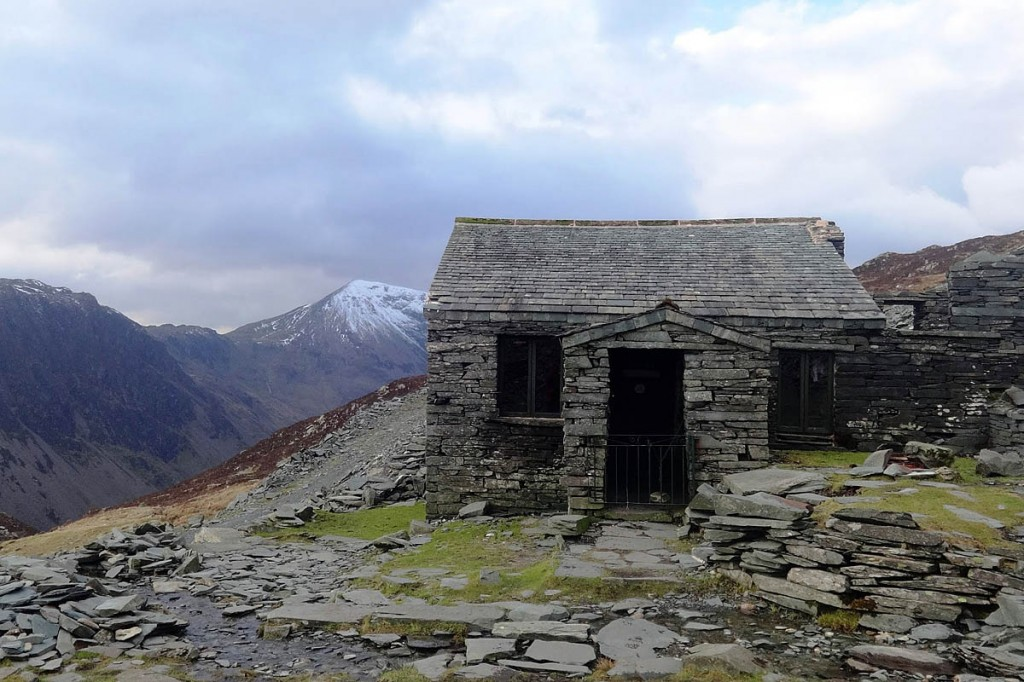 The Dubs Hut lies close to the path leading to Hay Stacks from Honister. Photo: MBA