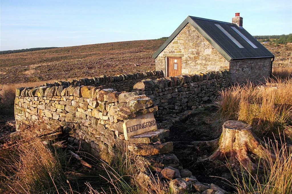 The new bothy at Flittingford in the Kielder Forest. Photo: MBA