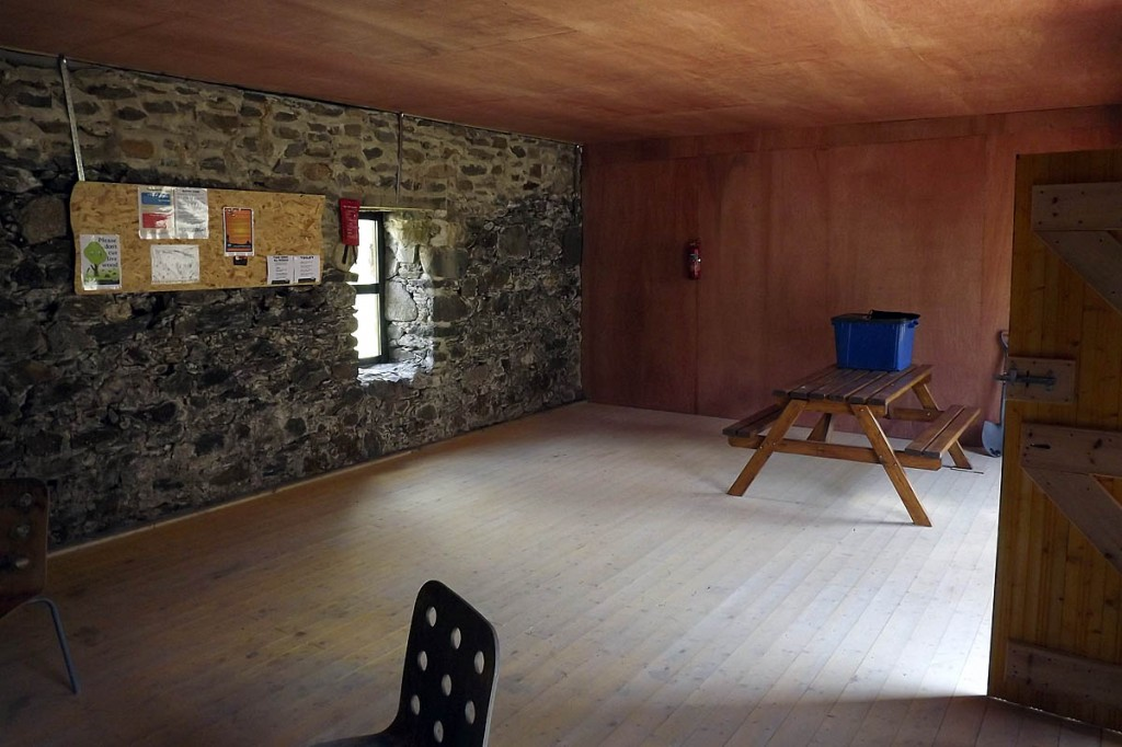The interior of the bothy. Photo: MBA