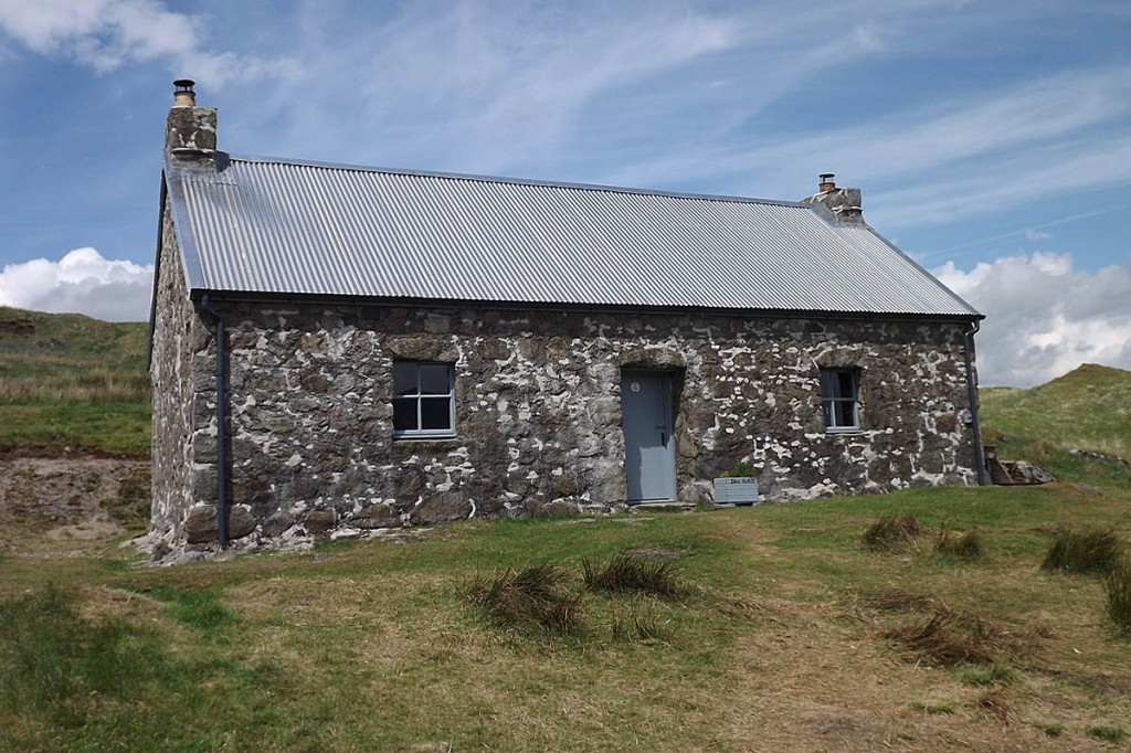 The renovated bothy. Photo: Peter Rowell