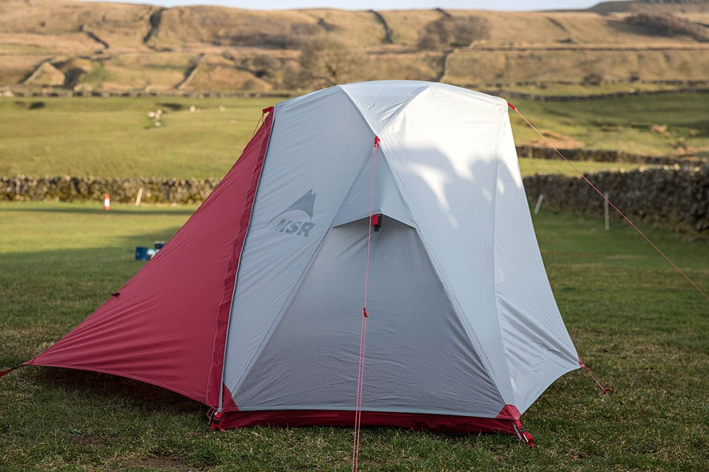 The small cross pole at the tent's apex helps give more lateral room. Photo: Bob Smith/grough
