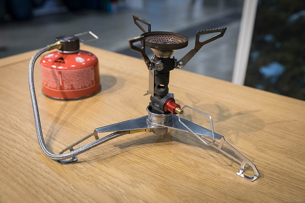 The MSR Low Down adapter allows a canister-top stove to be used in a low position. Photo: Bob Smith/grough