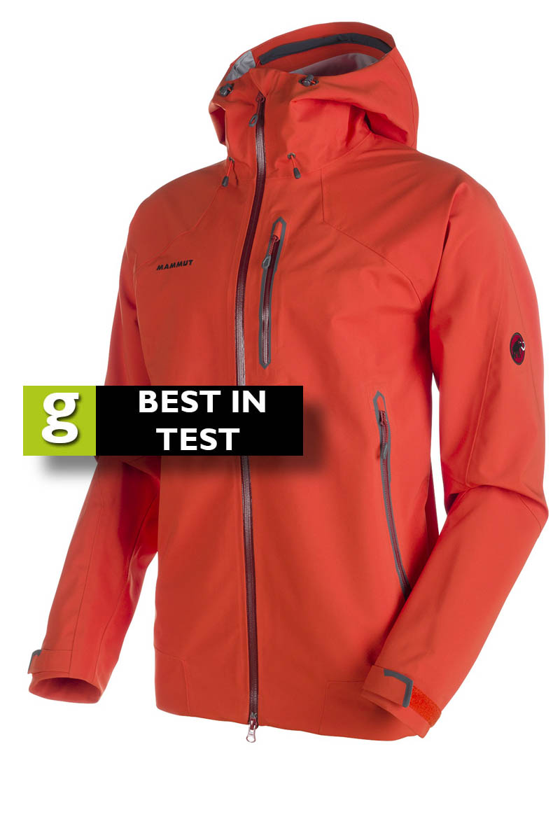 899617bc26ce Mammut Masao Jacket Price  £240. Colour  orange. Weight  606g. Material   polyester. Waterproofing  DRYtech Premium Country of manufacture  China