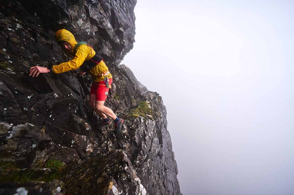 The Cuillin traverse was completed in poor weather conditions. Photo: Hamish Frost