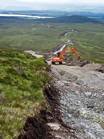 A hilltrack under construction on Beinn Bhuraich. Photo: Alex Sutherland