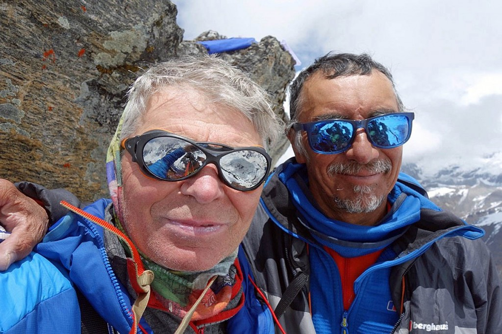 Mick Fowler, left, and Vic Saunders on Chungukang North