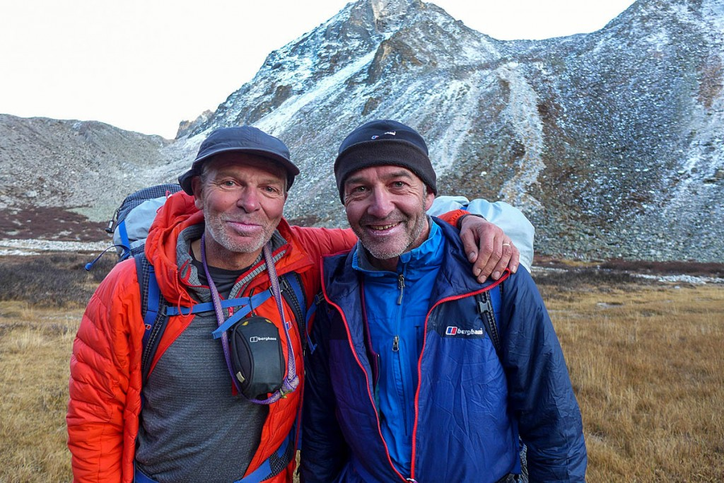 Mick Fowler (left) and Paul Ramsden during their Gave Ding expedition