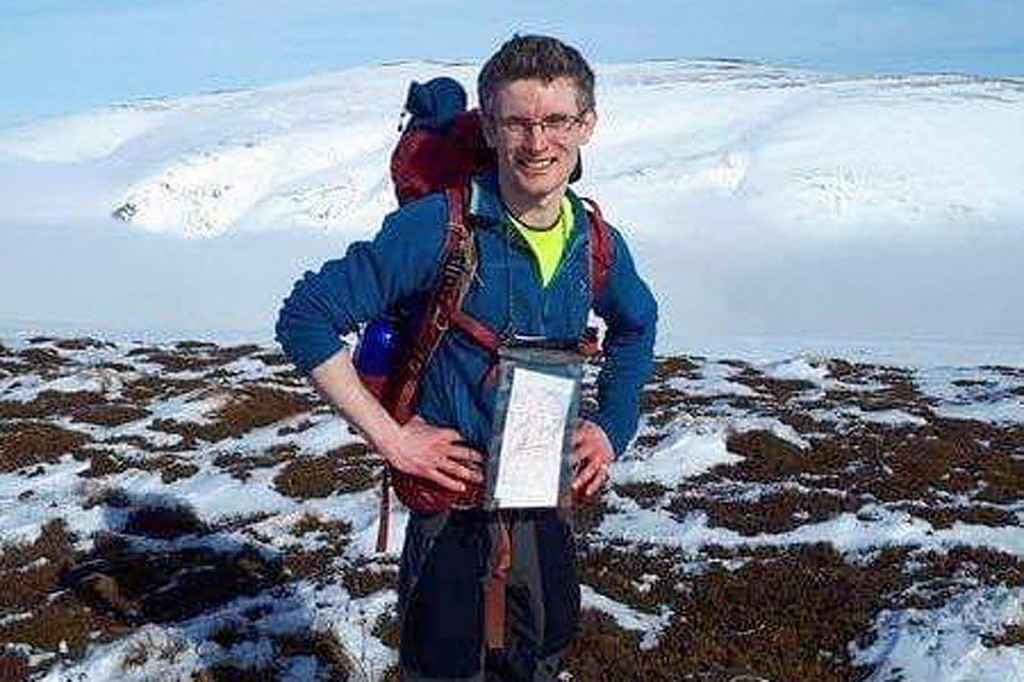 Owain Bristow has been missing since falling into the sea while climbing