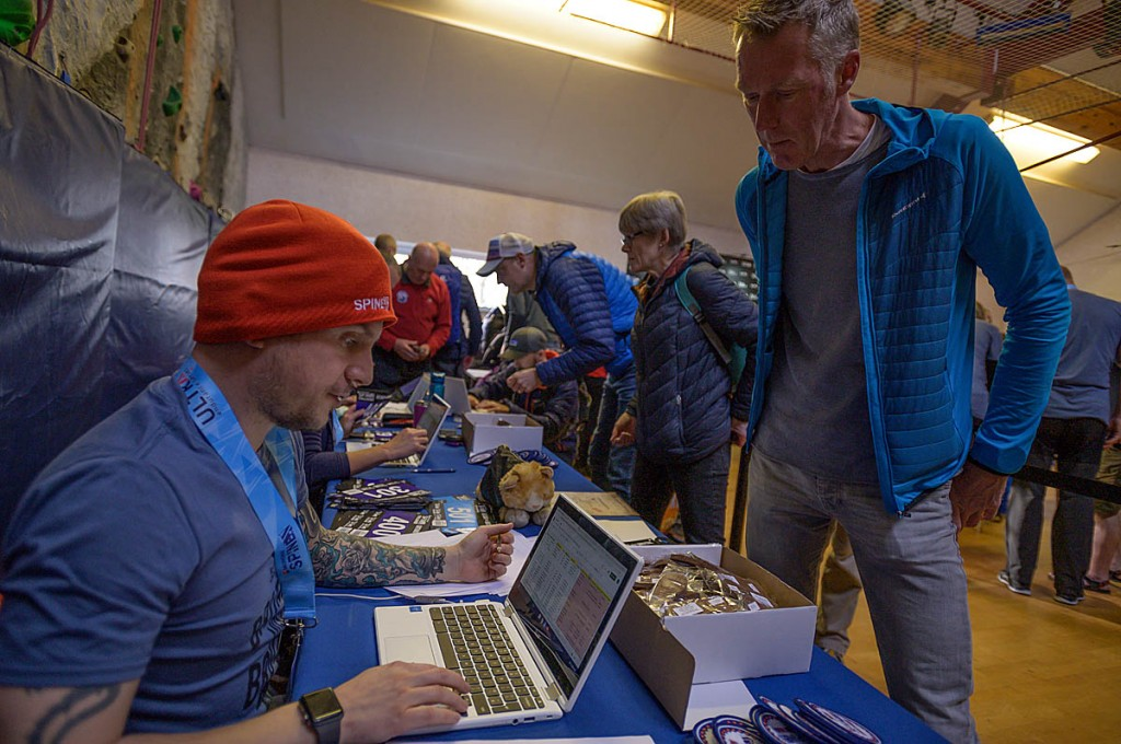 Competitors register at the Edale starting point. Photo: Jimmy Hyland