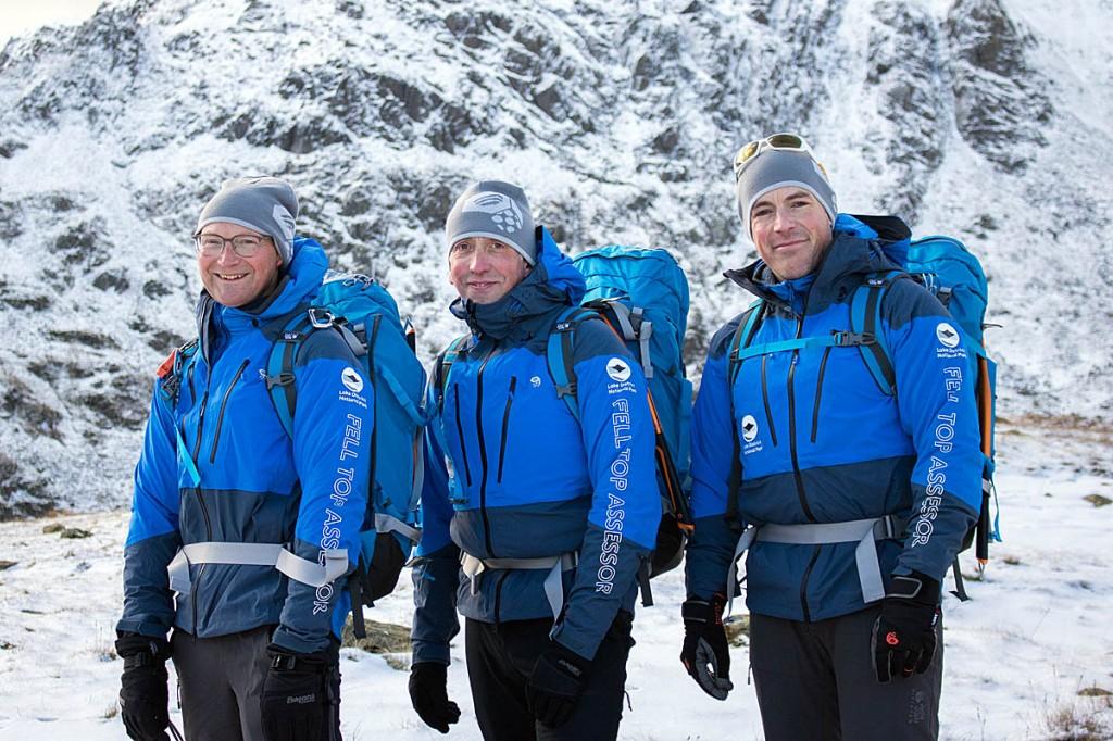 The three felltop assessors: from left, Jon Bennett, Graham Uney and Zac Poulton