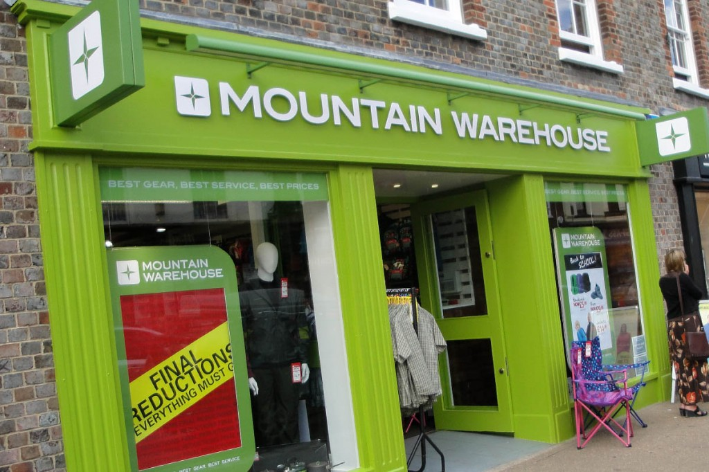 Mountain Warehouse sales were boosted by wintry weather and online shopping. Photo: Editor5807 CC-BY-SA-3.0