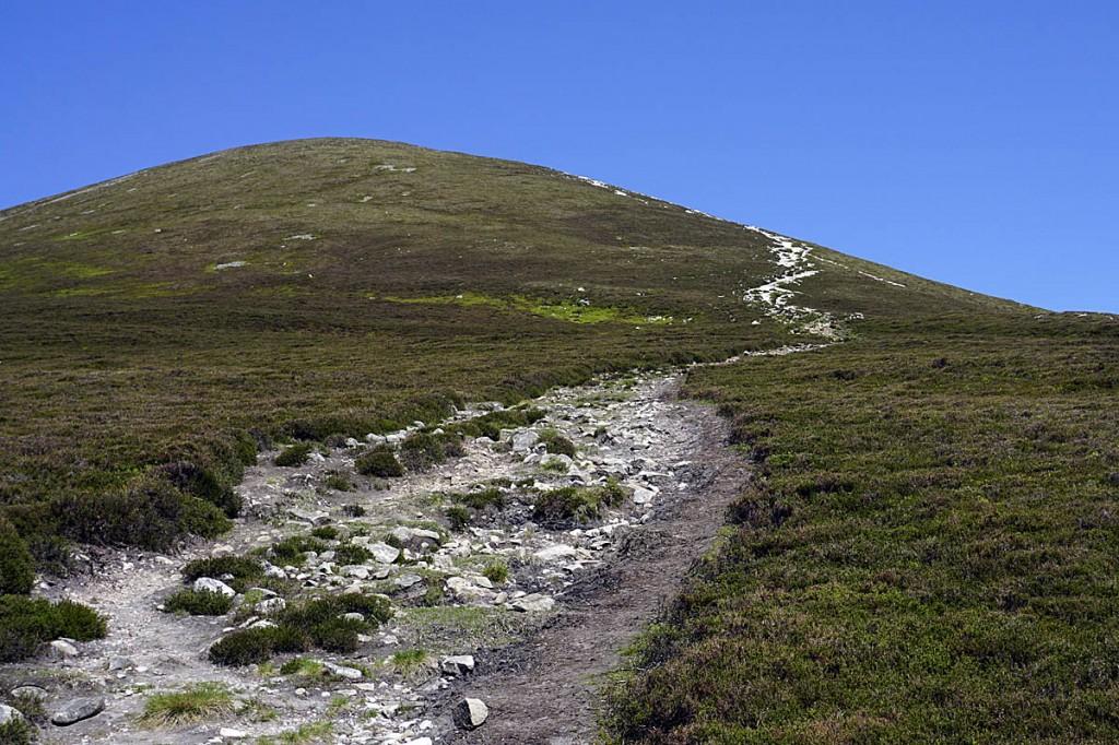 The eroded path on  Beinn a' Ghlò. Photo: Neil Reid