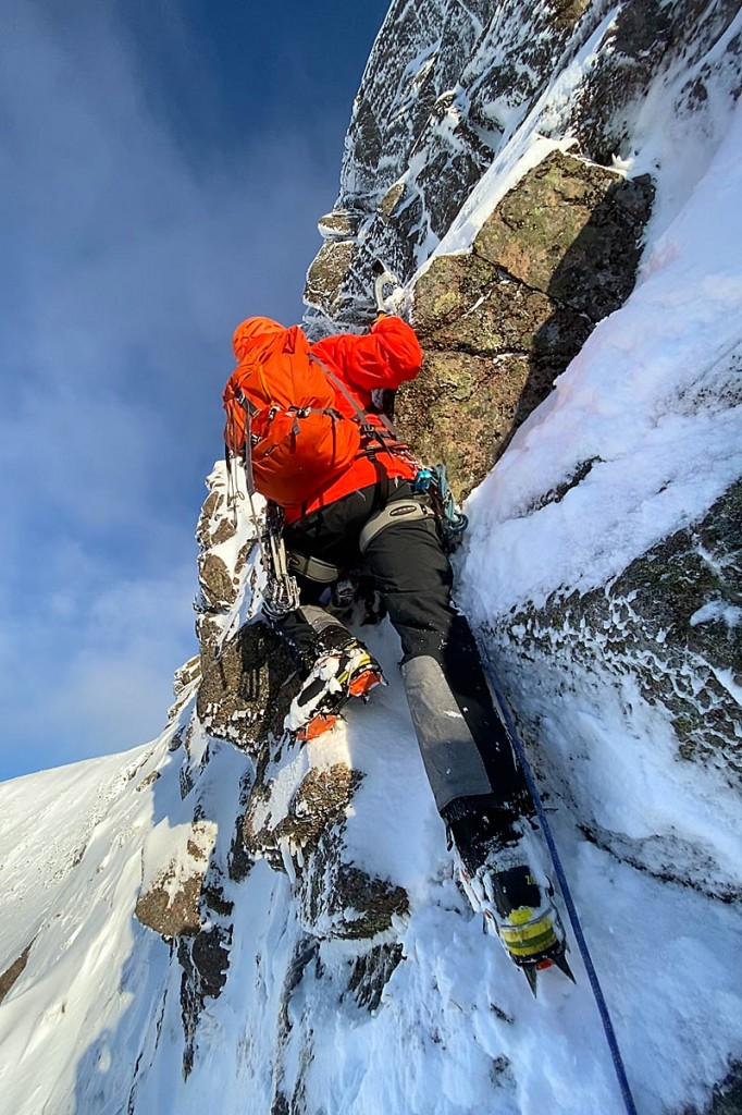 A mountaineer on Braeriach. Photo: Simon Richardson