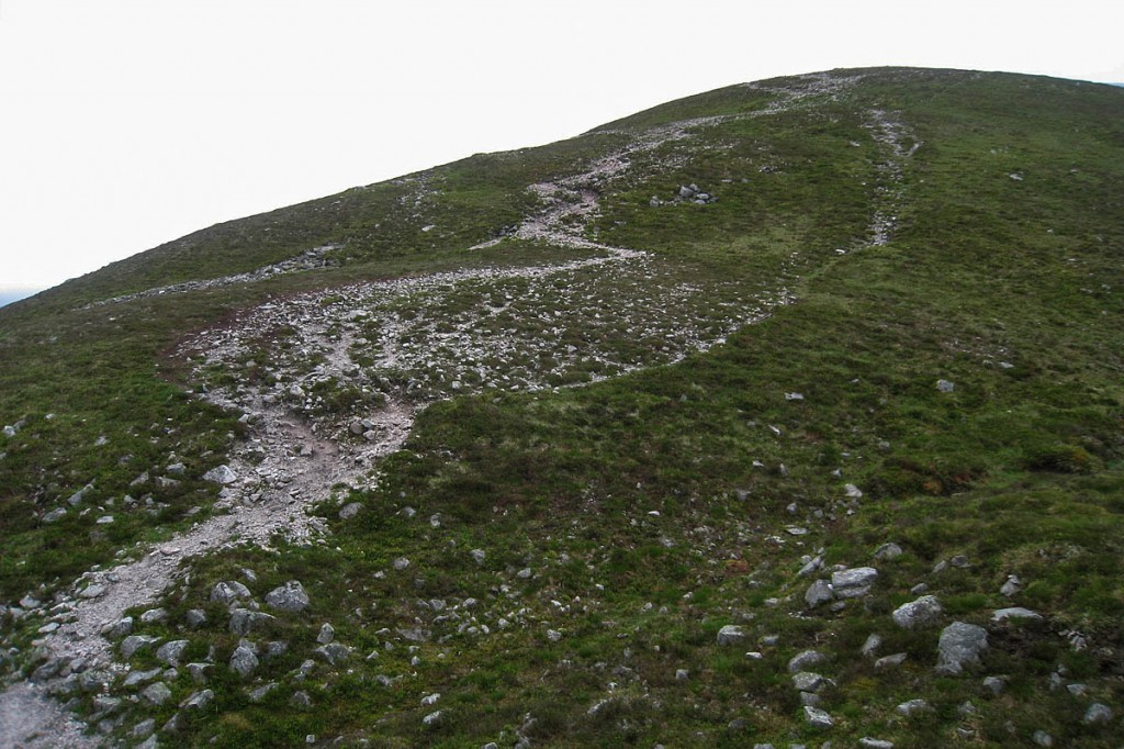 The eroded path on Beinn a' Ghlò
