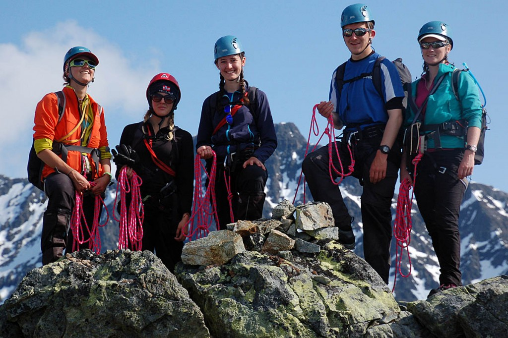 Some Loretto School students on a mountaineering trip to northern Norway in 2015
