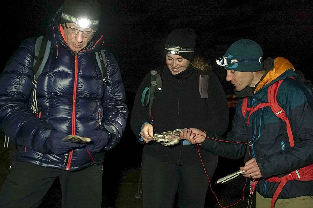 Walkers should carry a headtorch and spare and be able to navigate in darkness. Photo: Paul Diffley