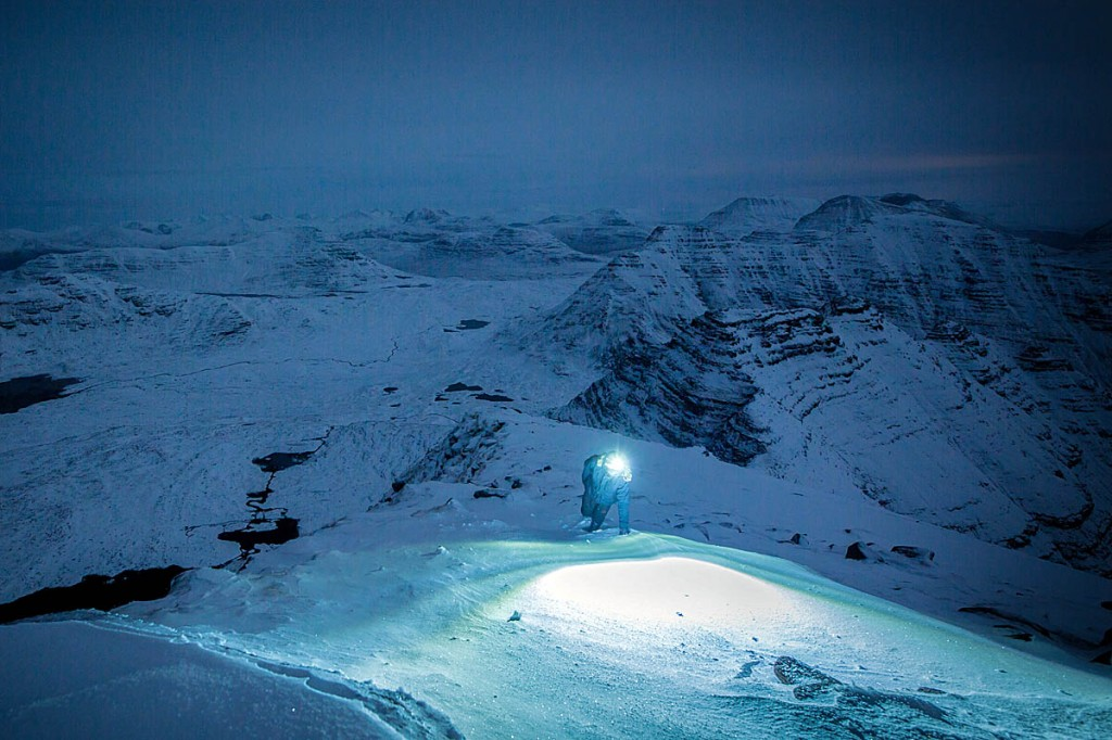 Night-time on Beinn Alligin. Photo: Zak Mooney