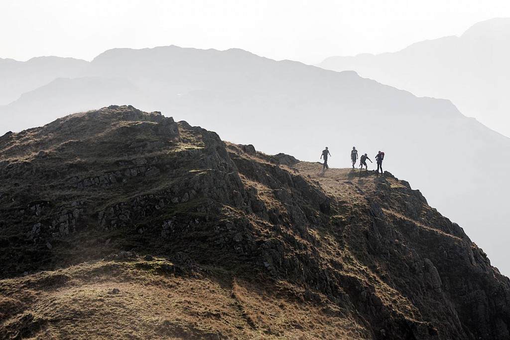 A group mountaineering in Langdale in the Lake District. Photo: Bob Smith/grough