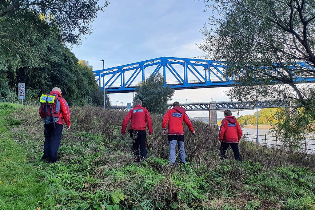 The teams also conducted a search on the banks of the River Tyne. Photo: NNPMRT